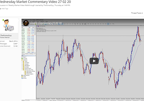 Forex commentary video weekly screenshot