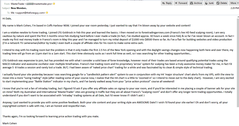 mark's testimonial