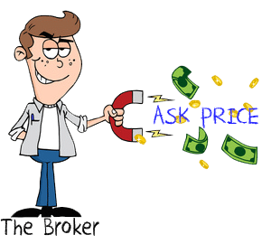 greedy broker ask price commission