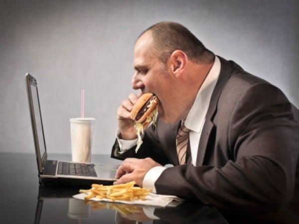 fat at computer