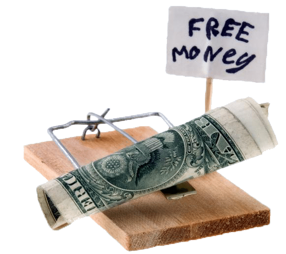a money trap suggesting breakout traps are there to trick you