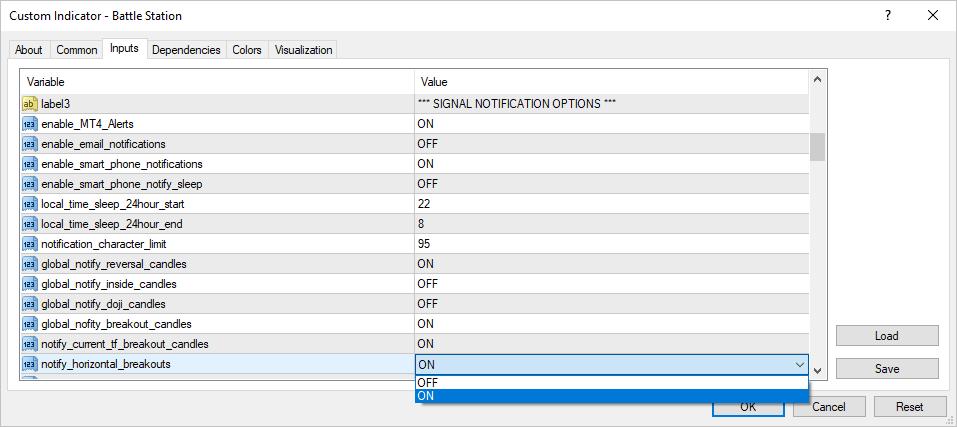 notify horizontal breakout marker switch